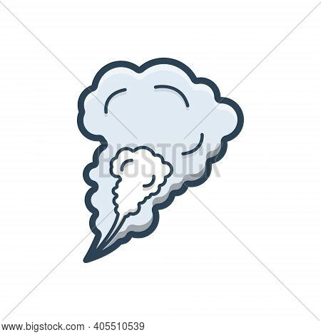 Color Illustration Icon For Smoke Steam Fog Haze