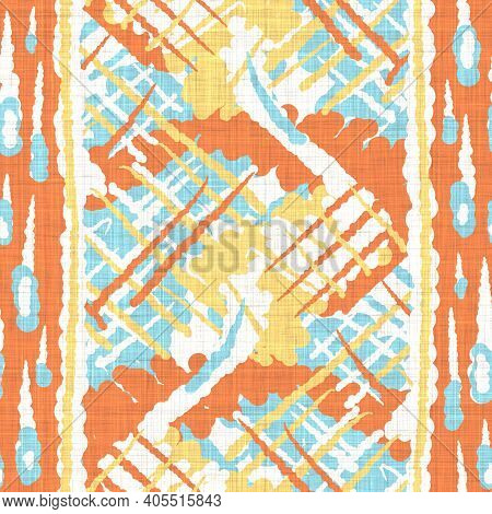 Watercolor Melange Stripe Texture Background. Hand Drawn Irregular Abstract Line Seamless Pattern. M