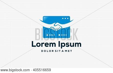 Deal Domain Logo Template, Website Deal Logo Designs Vector Illustration