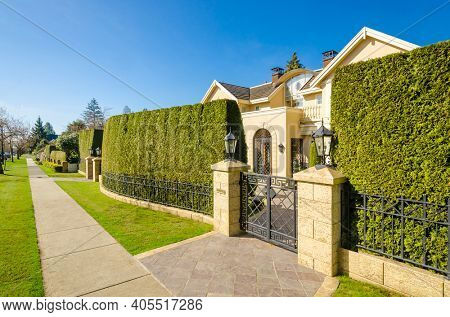 A nice entrance of or gate to a house in Vancouver, Canada.
