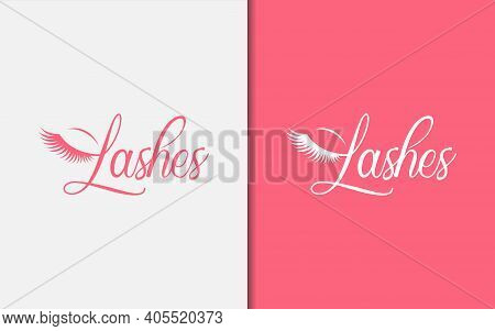 Abstract Lashes Beauty Logo Design. Graphic Design Element.