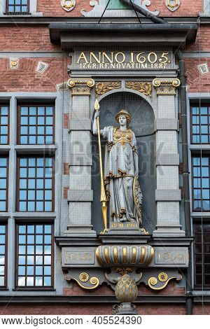 Facade Of Great Arsenal In Gdansk, Pomorskie, Poland