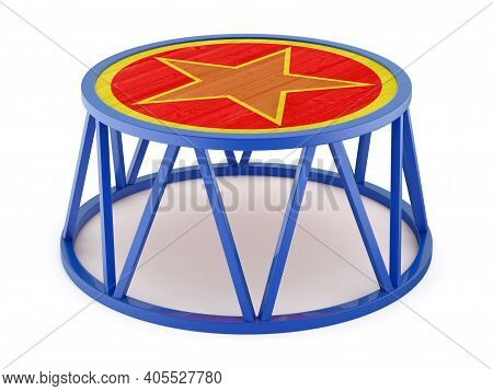 Circus Stand On White Background - 3d Illustration