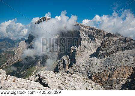 Summer View Of The Famous Pale Di San Martino Near San Martino Di Castrozza, Italian Dolomites