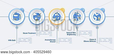 Spa Procedures Vector Infographic Template. Steam Treatment, Skin Brightening Presentation Design El