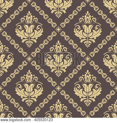 Orient Classic Pattern. Seamless Abstract Background With Vintage Elements. Orient Background. Ornam