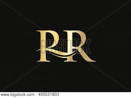 Pr Linked Logo For Business And Company Identity. Creative Letter Pr Logo Vector With Modern Trendy