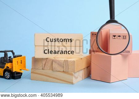 Courier Industry Term Customs Clearance. Clearance Of Cargo At The Border Upon Delivery, Including T