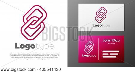 Logotype Line Chain Link Icon Isolated On White Background. Link Single. Hyperlink Chain Symbol. Log