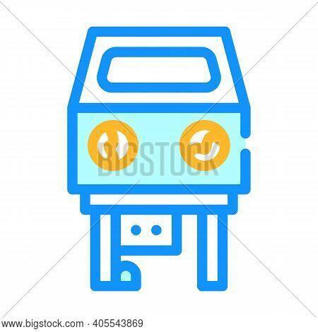 Sandblasting Chamber Color Icon Vector Illustration Flat