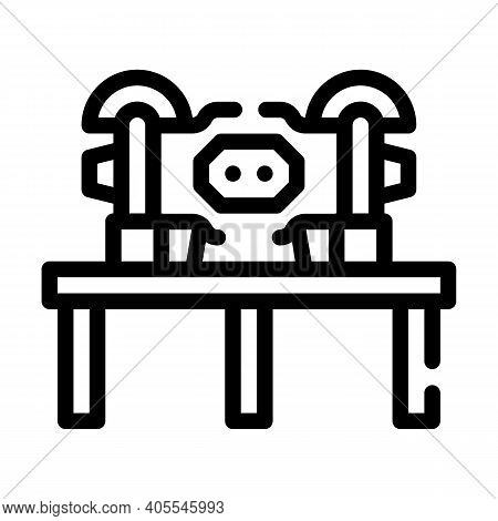 Grinding Industry Machine Line Icon Vector Illustration