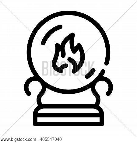 Sphere For Spiritism Line Icon Vector Illustration