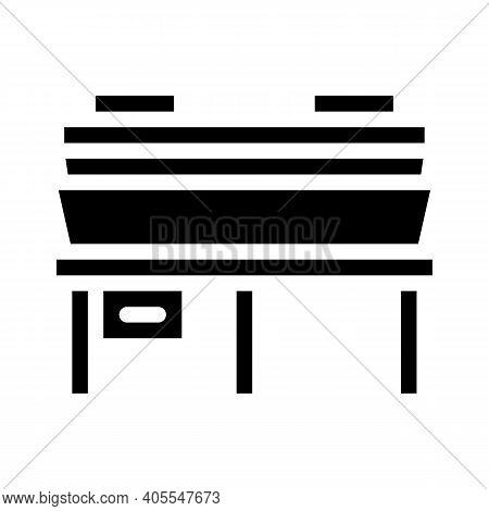 Hot Pressing Press Glyph Icon Vector Illustration