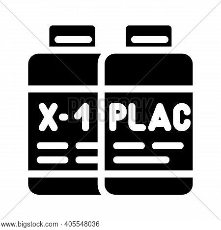 Test Samples Of Vaccine And Placebo Glyph Icon Vector Illustration