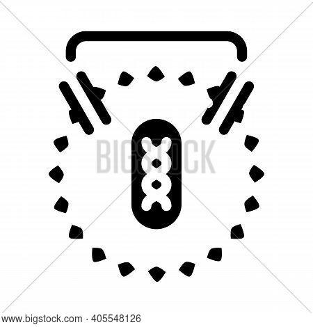 Dna Decoding For Future Vaccine Glyph Icon Vector Illustration