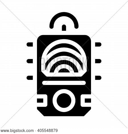 Ectoplasm Paranormal Detector Glyph Icon Vector Illustration