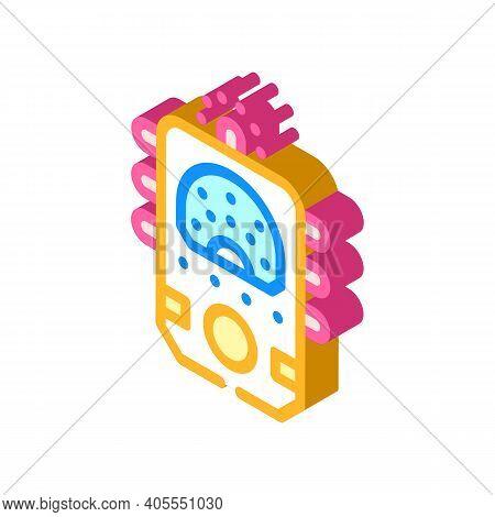 Ectoplasm Paranormal Detector Isometric Icon Vector Illustration