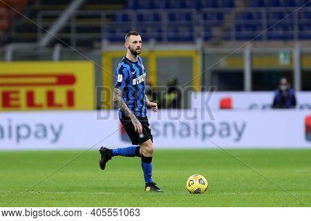 Milano, Italy. 26th January 2021 . Marcelo Brozovic Of Fc Internazionale  During The Coppa Italia Ma
