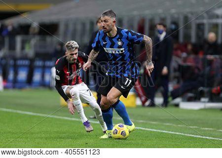 Milano, Italy. 26th January 2021 . Aleksandar Kolarov Of Fc Internazionale  During The Coppa Italia