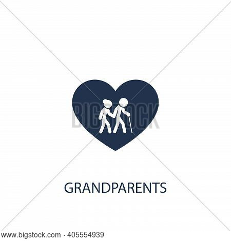 Old Man And Woman Icon. Simple Family Element Illustration. Vector Symbol Design From Home Collectio