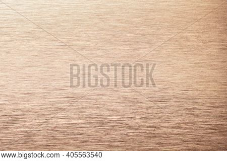 Light Bronze Aluminum Texture Background. Cooper Stainless Steel Texture Metal Backdrop.