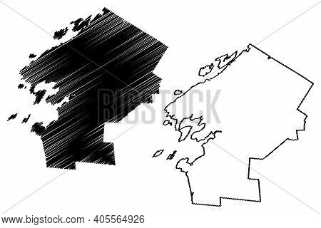 Jefferson County, New York State (u.s. County, United States Of America, Usa, U.s., Us) Map Vector I