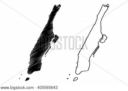 New York County, New York State (u.s. County, United States Of America, Usa, U.s., Us) Map Vector Il