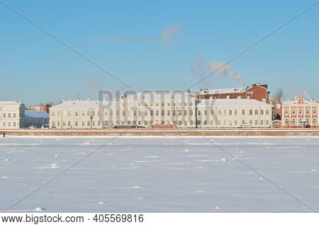 Russia. View Of St. Petersburg On A Sunny Winter Day
