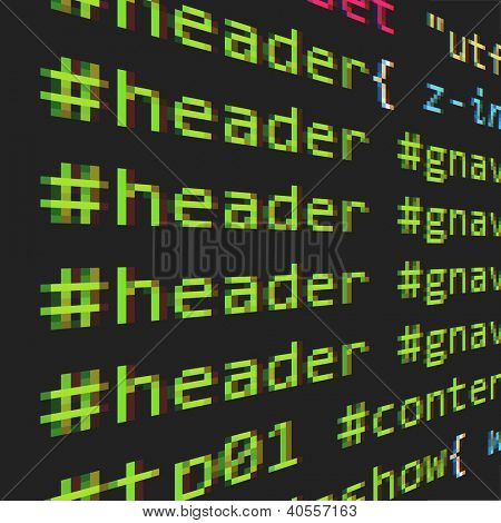 CSS and HTML code poster