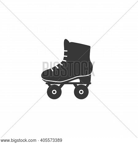 Roller Skate Icon Symbol. Vector Isolated Rollerskating Element Trendy Style