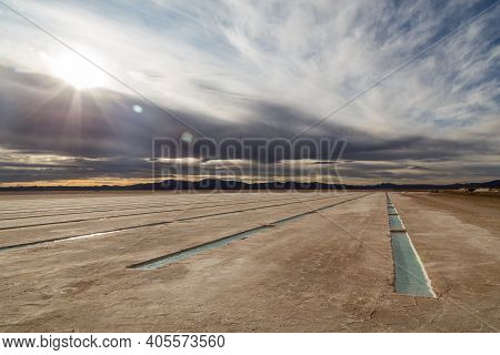 The Salt Flats Salinas Grandes In The Northwest Of Argentina