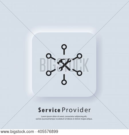 Service Provider Icon. Customer Service Logo. Online Support. Account Manager. Vector. Ui Icon. Neum
