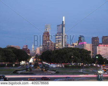 Image Taken With A Long Esposure Philadelphia.