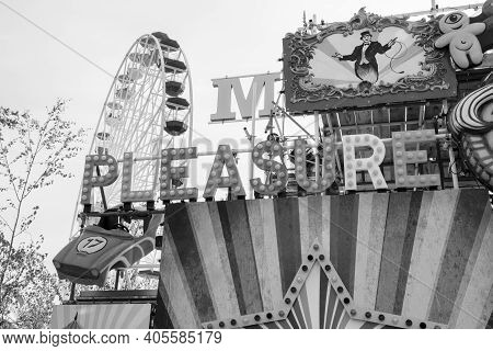Margate, Kent, Uk - August 28, 2017. The Iconic Dreamland At Margate, Featuring Heritage Rides From