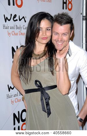 LOS ANGELES - DEC 12:  Katrina Law, Daniel Feuerriegel arrive to the NOH8 4th Anniversary Party at Avalon on December 12, 2012 in Los Angeles, CA