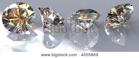 Four Clear Diamonds