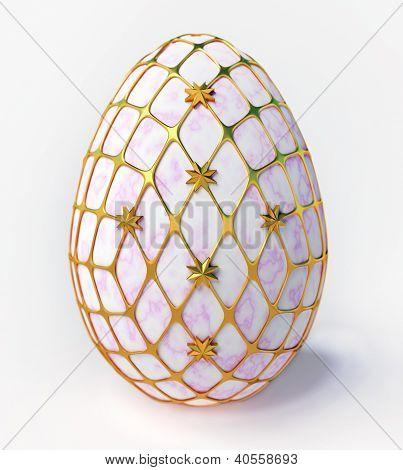 Easter - marble egg in gold incrustation poster