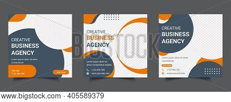 Digital Marketing Agency Social Media Web Banner Post Template Design. Background Banner For Online