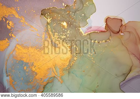 Color Abstract Background Liquid. Alcohol Inks On Paper. Multicolor Flow Wallpaper. Art Acrylic Text