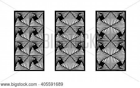 Modern Cnc Pattern. Decorative Panel, Screen, Wall. Vector Cnc Panel For Laser Cutting. Template For