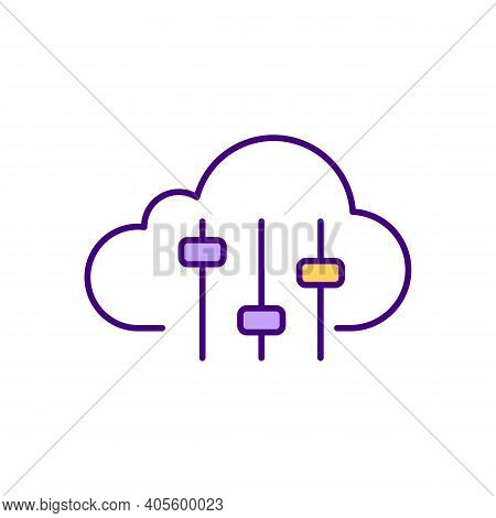 Cloud Customization Rgb Color Icon. Upgrades And Enhancements Without Technical Assistance. Personal