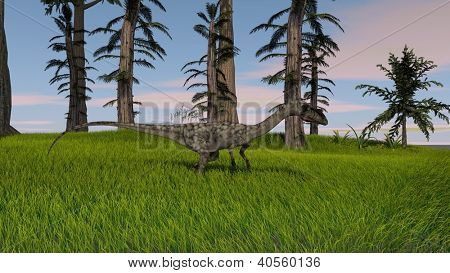 coelophysis in jungle poster