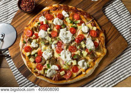 Homemade Greek Gyro Pizza