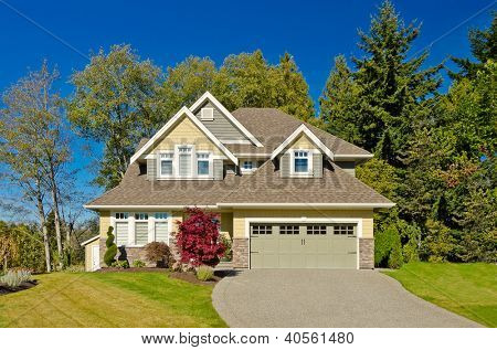 Luxury house at sunny day in Vancouver, Canada. poster