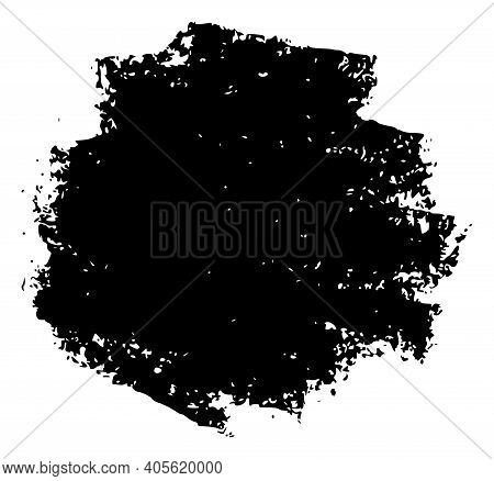 Round Charcoal Texture Chalk Illustration With Charcoal Effect. Vector Freehand Round Charcoal Textu