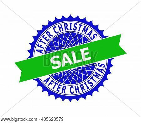 Vector After Christmas Sale Bicolor Template For Watermarks With Clean Surface. Flat Clean Seal Stam