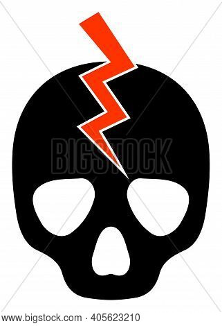Death Strike Icon With Flat Style On A White Background. Isolated Raster Death Strike Icon Illustrat
