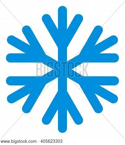 Snow Flake Icon With Flat Style On A White Background. Isolated Raster Snow Flake Icon Illustrations