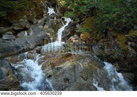 Pacific Northwest Deception Falls Washington. Deception Falls In The Cascade Mountains. Washington S