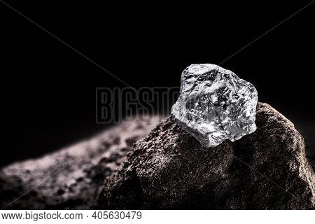 Platinum Nugget, Noble Metal, Found Free In Nature In The Form Of Nuggets, Used In The Production Of
